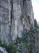 Rock Climbing Photo: Absolutely Billy, sport climb next to Corrugation ...