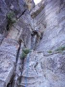 Rock Climbing Photo: Brad Esser leading p1 on Corrugation Corner