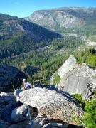 Rock Climbing Photo: On top of Corrugation Corner