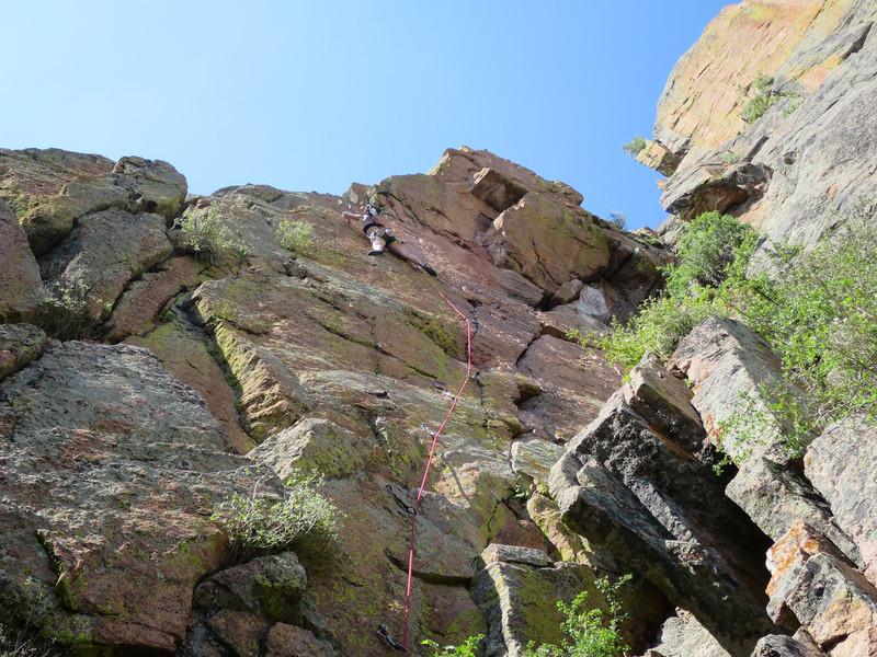 Michelle Hale climbing White Dwarf.