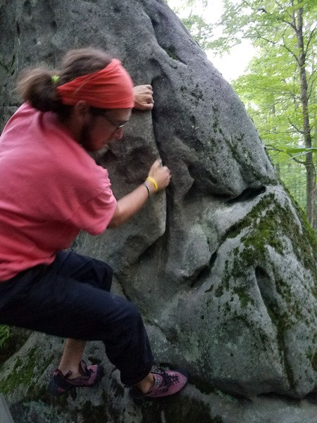 Rock Climbing Photo: Tyler working the flake.