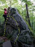 Rock Climbing Photo: The route of Pink Patchouli Flower.
