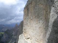 Rock Climbing Photo: Upper face of the Third taken from the Second.  Vi...