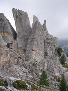 Rock Climbing Photo: Several of the smaller towers.  You can just see t...