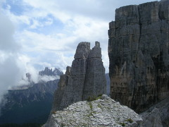 Rock Climbing Photo: L to R: Croda Da Lago, Torre Seconda, Torre Grande