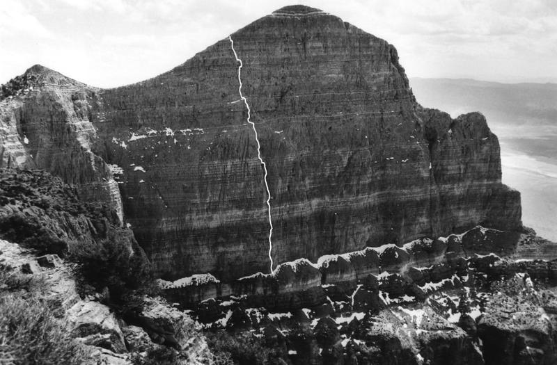 Rock Climbing Photo: Line drawing of route.