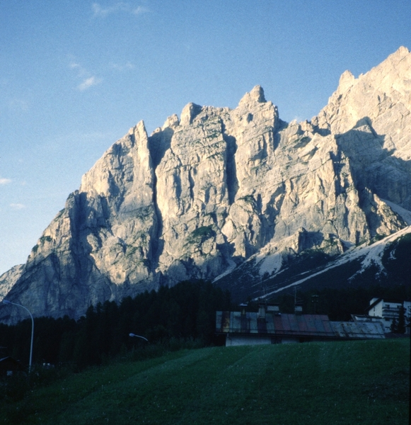 Rock Climbing Photo: View of Spigolo Jori from the northern edge of Cor...