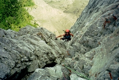 Rock Climbing Photo: Kahl Wall, somewhere in the upper dihedrals.