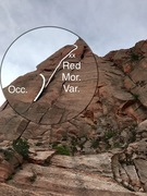 Rock Climbing Photo: Visual description of Red Morph Var. vs the regula...