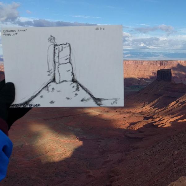 "Rock Climbing Photo: A little ""comic relief"" atop the Castlet..."