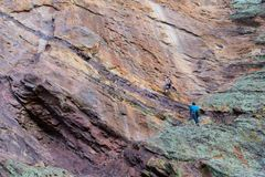 Rock Climbing Photo: Starting up the second pitch.