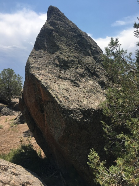 Another side of the highball boulder with potential.