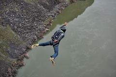 Rock Climbing Photo: fun jump
