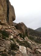 Rock Climbing Photo: Right side of the Dead Zone.  A difficult project ...
