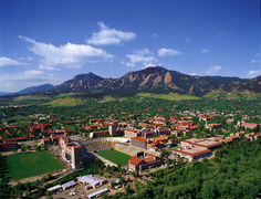 Rock Climbing Photo: Boulder CO, a city nestled up to those Flatties!