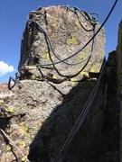 Rock Climbing Photo: The anchor block.