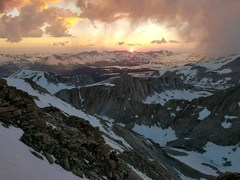 Rock Climbing Photo: Sunset from the summit of Mt. Whitney