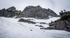 The East face of Chair Peak.