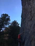 Rock Climbing Photo: Andrew leading up Sweet Honey Biscuits in the even...