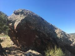Rock Climbing Photo: The north side of Squat Block.