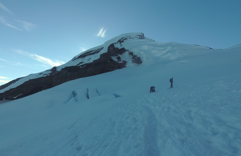 Coleman headwall shadowing the glacier in morning hours