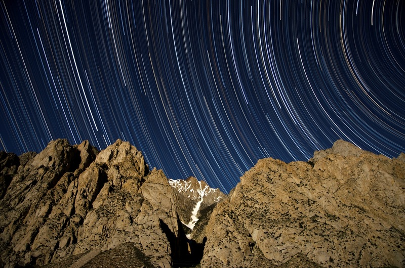 Rock Climbing Photo: Scheelite Canyon star trails