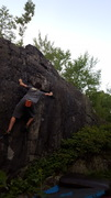 Rock Climbing Photo: getting in to it