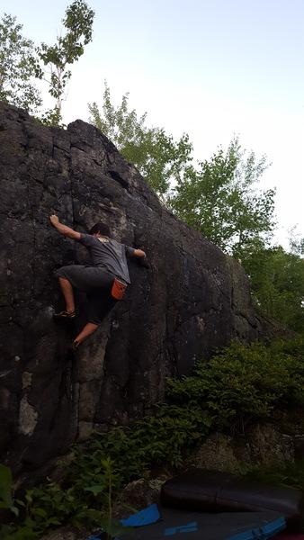 Rock Climbing Photo: getting through it