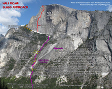 Rock Climbing Photo: Route Overlay for Slabs Approach