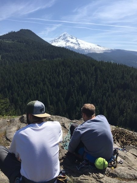 My buddy and I enjoying the view from the top