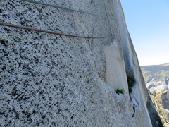 Rock Climbing Photo: (Pitch 12 after Rockfall.) On lead, there is a ten...