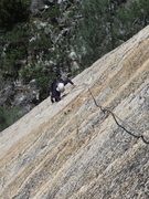 Rock Climbing Photo: At the second bolt of the first pitch.