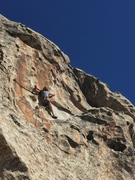 Rock Climbing Photo: Keir L.B. moving up to the fun moves of The Good S...