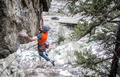 Rock Climbing Photo: Nolan Robertson sends Prowler during a crisp Febru...