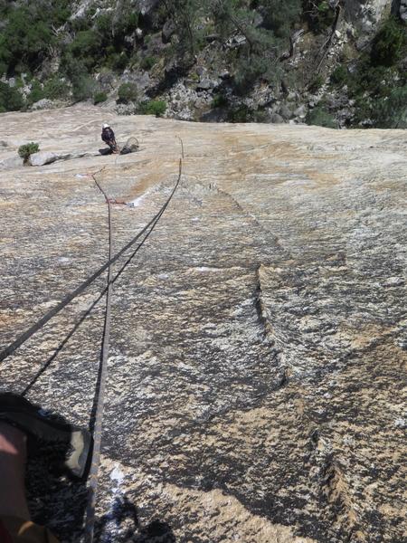 Pitch 2 crux, amazing rock!