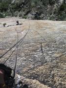 Rock Climbing Photo: Pitch 2 crux, amazing rock!