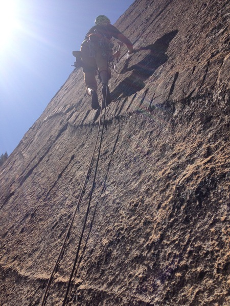 Pitch 4, cool dike right off the belay!