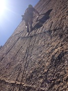 Rock Climbing Photo: Pitch 4, cool dike right off the belay!