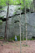 Rock Climbing Photo: That's me at the base of the center of the right w...