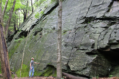 Rock Climbing Photo: Looking up the bolted line - right side.