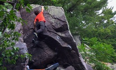 Rock Climbing Photo: sendin' in the summer heat
