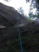 Rock Climbing Photo: ML following up Sesame Street