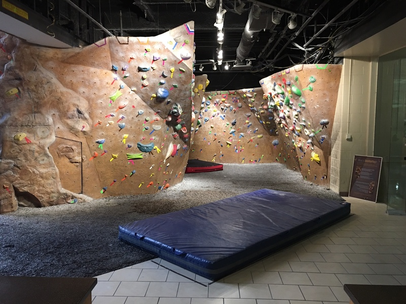 Georgia Southern University Bouldering Cave.