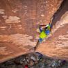 David Allfrey climbs Beelzebub. Photo: Matt Kuehl<br> <br> www.mattkuehlphoto.com
