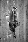 Rock Climbing Photo: Felix Johansson leading Pick Pocket