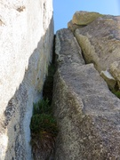 Rock Climbing Photo: Pitch 2. You can climb it as an offwidth or use fa...