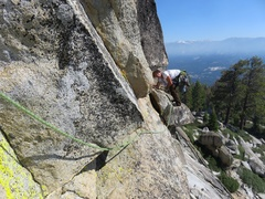 Rock Climbing Photo: There are a few ways to surmount the summit block:...