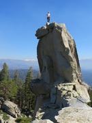 Rock Climbing Photo: On the summit block!