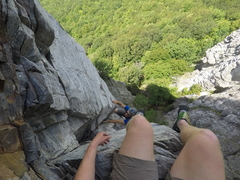 Rock Climbing Photo: From the aclove on P2