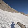Snow at the base of the climb.